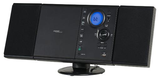 auvisio Vertikale Stereo-Kompaktanlage MSX-500 mit Bluetooth, FM, CD, MP3 & AUX, 10 Watt