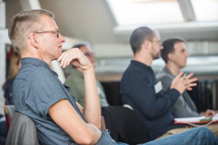 Tagungsfoto mit Prof. Dr. Martin Pfleiderer  / Foto: Maik Schuck