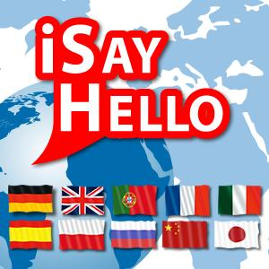 iSayHello travel phrasebooks for iPhone, iPod Touch and Android smartphones