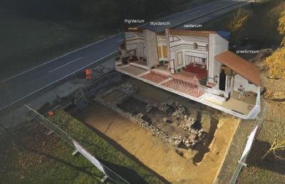 In Schlögen lädt ein außergewöhnlich gut erhaltenes römisches Bad zum Eintauchen in die antike Welt von Architektur, Technik und Lebensfreude ein. Foto: obx-news/Land Oberösterreich