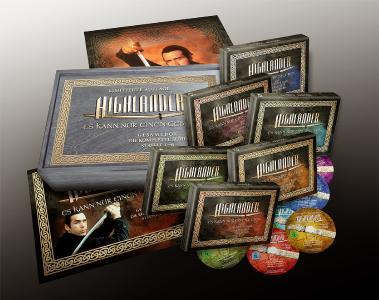 Exklusive Geschenk-Idee für Fantasy-Serien-Fans! Limitierte HIGHLANDER-Holzbox mit insg. 45 DVDs & Poster!