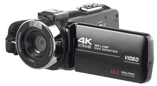 Somikon 4K-UHD-Camcorder DV-860.uhd mit Sony-Sensor, Touch-Display, HD mit 120 B./Sek. / Copyright: PEARL. GmbH / www.pearl.de