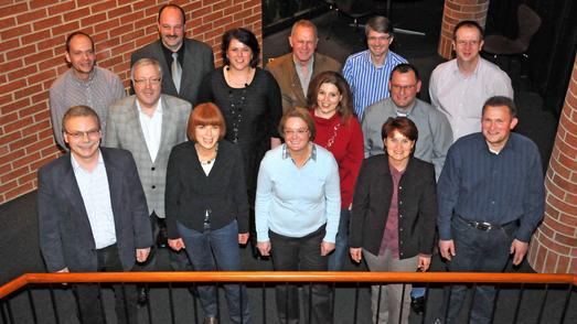 Die neuen Gebäudemanager bei der Abschlussfeier in der Handwerkskammer Reutlingen