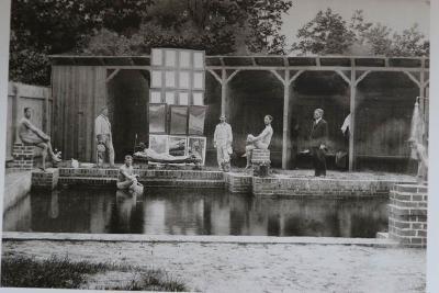 Luftbad, Aufnahme um 1906 – Sonnenbadende Kurgäste / © ThHF | Archiv