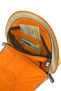 Pockets for credit cards, passport and tickets
