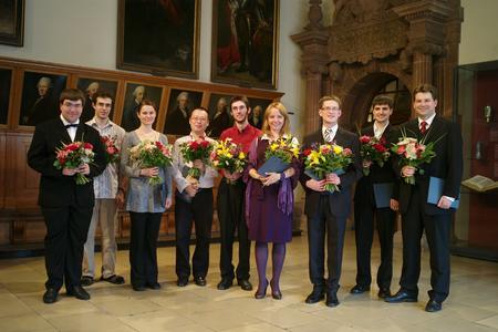 Bachpreisträger des XVI. Internationalen Johann-Sebastian-Bach-Wettbewerbs Leipzig 2008 v.l.n.r.