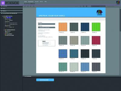 SPECTRUM 4.0 Online-Material-Datenbank - Über die Online-Material-Datenbank können neue Oberflächen einfach und kostenfrei ergänzt werden