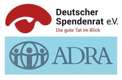 Logo Deutscher Spendenrat und ADRA Deutschland © Photomontage APD/ DSR und ADRA