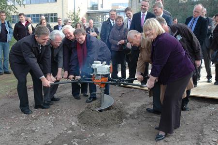 Setzten das Startsignal für den Bau der neuen Mensa am Westerberg