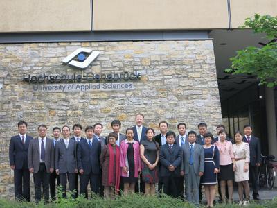 """Die Delegation der Shijiazhuang University am ersten Tag des Sommerkurses """"Angewandte Hochschullehre"""", welcher vom Hochschulzentrum China (HZC) der Hochschule Osnabrück organisiert wird"""
