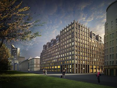 Entwurf Brühl-Neubau Unister, Luka Kalkof Architektur
