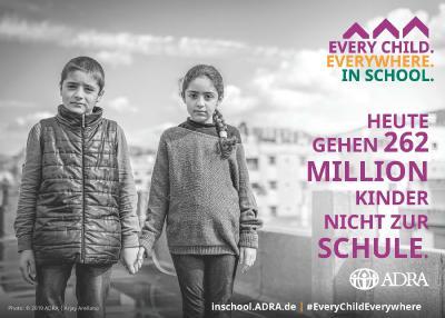#EveryChildEverywhereInschool - Bildungsinitiative von ADRA / © Foto Arjay Arelano / ADRA