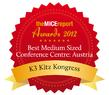 "K3 KitzKongress als ""Best Medium Sized Conference Centre in Austria 2012"" ausgezeichnet"
