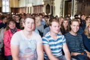 Rund 350 Studienanfängerinnen und -anfänger wurden in der Oberen Rathaushalle begrüßt