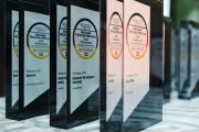 Trophäe mit Digitalfokus: Deutscher Exzellenz-Preis 2020. Foto: Bernd Roselieb