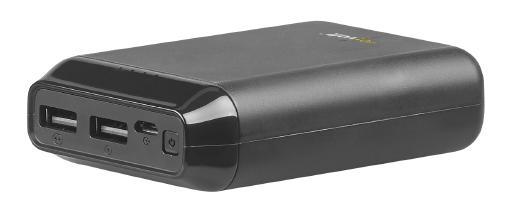 revolt USB-Powerbank PB-210 mit 10.000 mAh, 2 USB-Ports, 2,4 A, 12 Watt