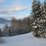 Wintercamping am Alpsee im Allgäu