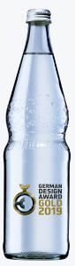 Klar, was drin ist: die Perlenflasche für Mineralwasser