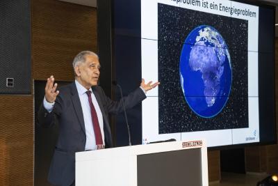 Prof. Dr. Mojib Latif sprach in seinem Impulsvortrag über den Klimawandel