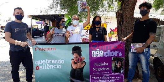 Zur Kampagne gegen häusliche Gewalt in Brasilien gehörten Protestmärsche, Vorträge und Aktionen in Schulen sowie in den Sozialen Medien. Sie ist Teil einer weltweiten Initiative der adventistischen Kirche im Kampf gegen Missbrauch