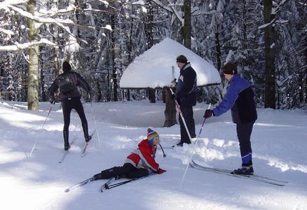 Skikurs im Hotel in Bayern