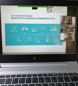 Virtuelle MBA-Informationsveranstaltung am RheinAhrCampus Remagen