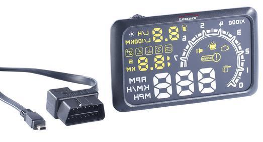 Lescars Head-up-Display V3 HUD-55C für OBD2-Anschluss