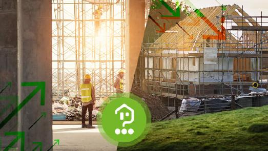 Baugenehmigungen steigen auch im Corona-Jahr 2020, allerdings werden immer weniger Einfamilienhäuser genehmigt