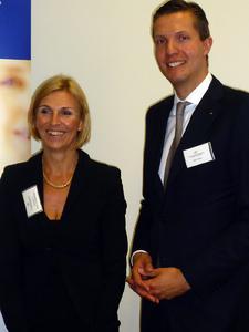 Waren erfreut über die gute Resonanz beim Osnabrücker Symposium der Gesundheitsbranche: Prof. Dr. Andrea Braun von Reinersdorff und Jan Felix Simon