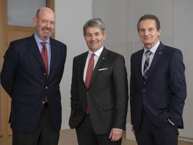 Das neue Vorstandsteam: Dr. Moritz Finkelnburg, Prof. Edgar Bohn und Raimund Herrmann (v.l.n.r.)