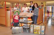 Rosenmontag: Lotti (Annegret Feldrapp), Sr. Beate Bayreuther (Kinderkrankenschwester), Frau Steffl (Kinderhilfe Eckental), Birgit Mai (Erzieherin der Kinderstation) und Johannes