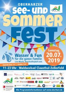 Plakat Oberharzer See- und Sommerfest