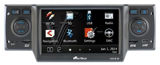 PX-8386 - PX-8389 1 NavGear StreetMate 1-DIN-Autoradio mit 4.3-Navi CAS-N 43
