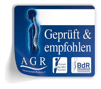 Eine sinnvolle Orientierungshilfe beim Kauf rückengerechter Produkte bietet das AGR-Gütesiegel, Bild: AGR