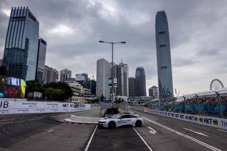 Qualcomm BMW i8 Safety Car, Hong Kong ePrix 2016 © LAT