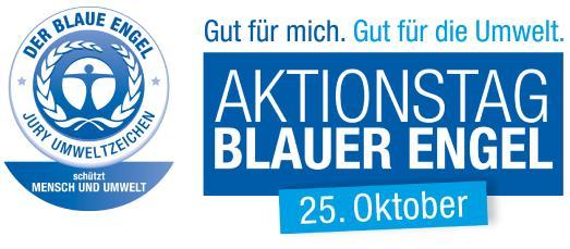 """Der zum zweiten Mal ausgetragene  """"Aktionstag Blauer Engel"""" am 25. Oktober  rückt das Umweltzeichen ganz besonders in  den Blickpunkt der Öffentlichkeit. Foto: KLAFS GmbH & Co. KG"""