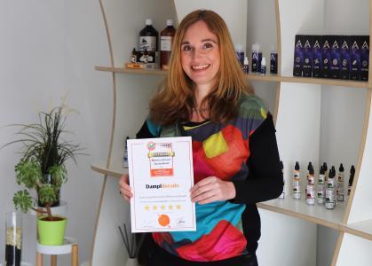 Freut sich über die Auszeichnung – Bente Bachmann, Geschäftsführerin des Testsiegers Dampfdorado