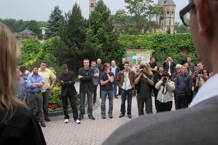 50 internationale Journalisten geben Vollgas