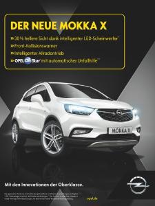 X-tra-Klasse: Die neue europaweite Werbekampagne zeigt plakativ die Highlights des Opel MOKKA X.