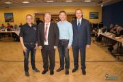 Der Vorstand des Deutschen Amateur-Radio-Club e.V. besteht aus dem Vorsitzenden und den Vorstandsmitgliedern: Christian Entsfellner, DL3MBG (2.v.l.), Ernst Steinhauser, Ronny Jerke, und Werner Bauer (v.l.). Seine Tätigkeit ist ehrenamtlich