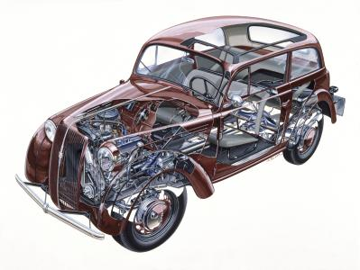 Das Erfolgsrezept des Opel Kadett: Modernes Design, hervorragendes Platzangebot und innovative Technik wie die selbsttragende Karosserie.