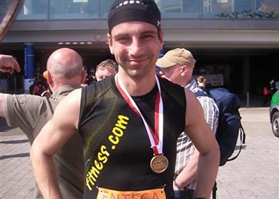 Matthias Giese am Start für fitness.com