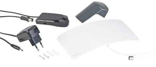 ZX 2828 4 auvisio Aktive Curved Zimmerantenne fuer DVB TT2 +40 dB LTE Filter