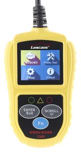 Lescars Universelles OBD2-Diagnosegerät, 5,1-cm-Farb-Display, bis zu 300 Codes