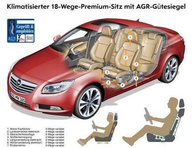 Opel bietet in seinen Modellen Astra, Meriva und Insignia den von den Experten der Aktion Gesunder Rücken (AGR) e.V. zertifizierten Premiumsitz mit Gütesiegel AGR bereits ab 390 Euro an, den entsprechenden Beifahrersitz für 295 Euro