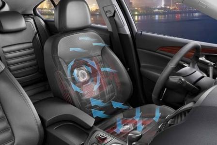 Opel bietet beim Topmodell Insignia den durch die Aktion Gesunder Rücken e.V. ausgezeichneten Premiumsitz in Lederausstattung mit Sitzventilation für den Fahrer an