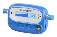 esoSAT Digitaler Satelliten-Finder mit Kompass, LCD-Display und Tonsignal