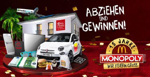 Traumhaus beim McDonald's Monopoly gewinnen - Essen, abziehen und jubeln!