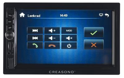 PX 2336 09 Creasono 2 DIN MP3 Autoradio mit Touchdisplay. Bluetooth und Freisprecher