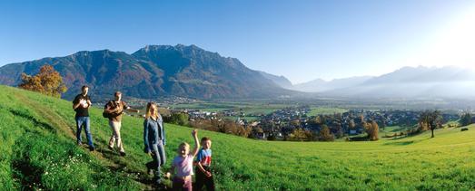 Liechtenstein bietet excellente Sport- und Erholungsmöglichkeiten - hier: der Eschnerberg, (Foto: Liechtenstein Tourismus)